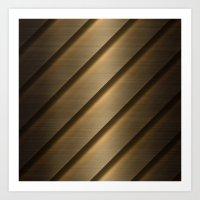 Copper Brass Metal Pipe Art Print