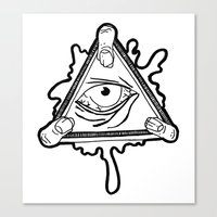 All Seeing Zomb-eye Canvas Print