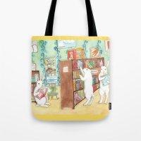Bookstore Bunnies Tote Bag
