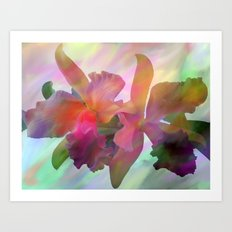Easter Orchids Art Print