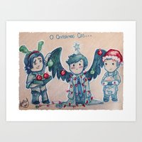 O Christmas Cas Art Print