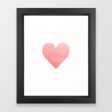 CORAL HEART Framed Art Print