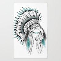 Indian Headdress Rug