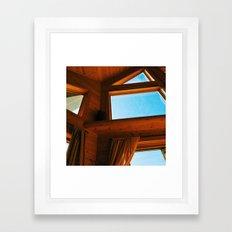 Cabin Interior Windows Framed Art Print