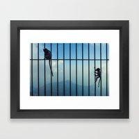 India - Monkey Bars Framed Art Print