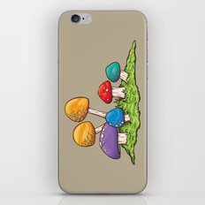 Mushrooms (Colors) iPhone & iPod Skin