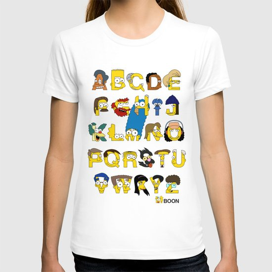 Simpsons Alphabet T-shirt