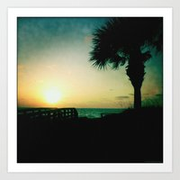 The silent sunset Art Print