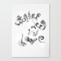 Collapsed in Love Canvas Print