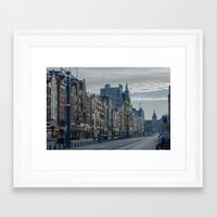Amsterdam Layover Framed Art Print