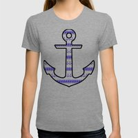 Sam's Anchor ss T-Shirt  Womens Fitted Tee Tri-Grey SMALL