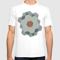 Trendy Tiles Mens Fitted Tee White SMALL