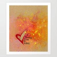 Kristin's Valentine Art Print