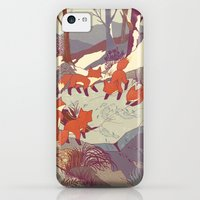 iPhone 5c Cases featuring Fisher Fox by Teagan White