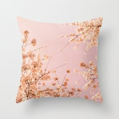 SPRING DELIGHT ~ pink Throw Pillow