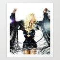 Britney Body Ache Art Print