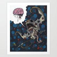 Zombie Stingray Art Print