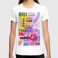 Sinfonia das Cores 1 Womens Fitted Tee White SMALL