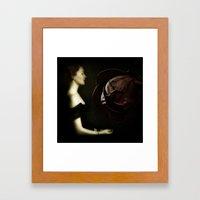 In The Heart Of A Rose Framed Art Print