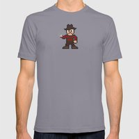Nightmare on Pixel St. Mens Fitted Tee Slate SMALL