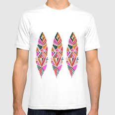 Brooklyn feathers Mens Fitted Tee SMALL White