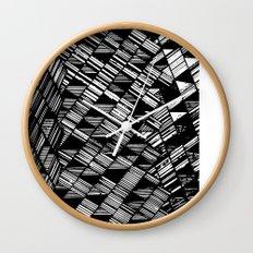 Moving Panes Black & White Wall Clock
