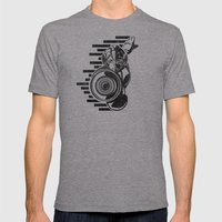 Megaman Geek Line Artly Mens Fitted Tee Athletic Grey SMALL
