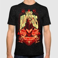 LORD HUMUNGUS: JUST WALK AWAY Mens Fitted Tee Tri-Black SMALL