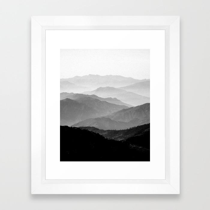 Black White And Landscape Framed Art Prints Society6