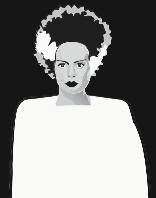 lady frankenstein Art Print