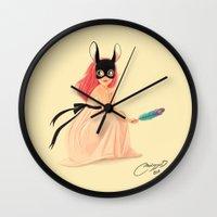 bunny mask Wall Clock