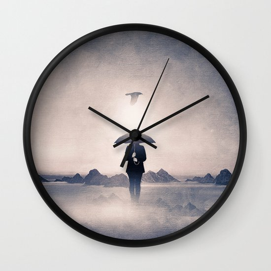 Waiting for the rain (colour option) Wall Clock