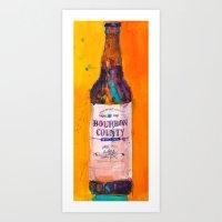 Bourbon Count Vanilla Rye Beer Art Print