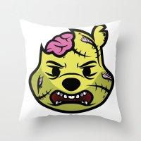 Zombie Winnie Throw Pillow