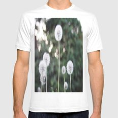 Dandelions White Mens Fitted Tee SMALL