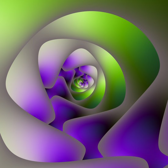 Labyrinth in Green and Purple Art Print