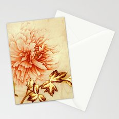 peach and golden floral Stationery Cards