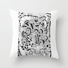 What hides a caress Throw Pillow
