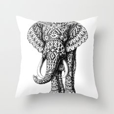 Navajo Elephant Throw Pillow