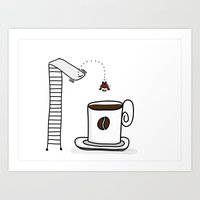 Diving Into Coffee Art Print