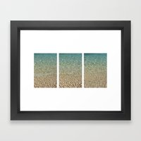 Aqua Blue Ocean Triptych Framed Art Print