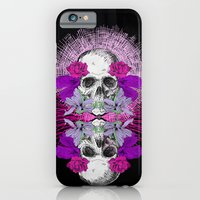 iPhone & iPod Case featuring Flowers Skull by Aurelie Scour
