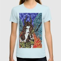 angel or demon in color Womens Fitted Tee Light Blue SMALL