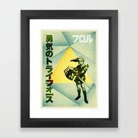 Triforce of Courage Framed Art Print