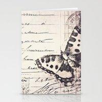 postal butterfly {b&w Stationery Cards