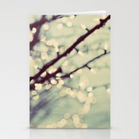 tree of lights Stationery Cards