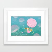 The Octonauts Jellyfish … Framed Art Print