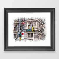 15th street Glasow Framed Art Print