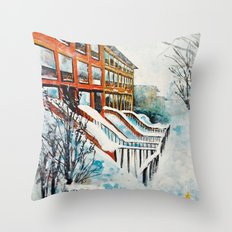 Brooklyn New York In Sno… Throw Pillow