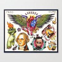Liberty Flash Canvas Print